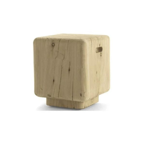 Buy or Rent Ivonne Wood Cube Side Table from FØERNI Furniture Rental Hong Kong