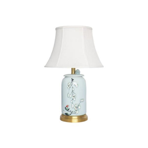 Buy or Rent-Nova Hand Painted Ceramic Table Lamp-from FØERNI Furniture Rental