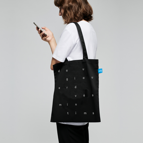 Reflective tote bag with custom your LRT logo