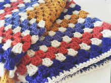 Load image into Gallery viewer, Super Soft Crochet Granny Square Baby Blanket