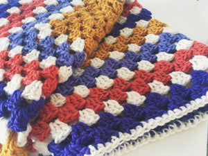 Super Soft Crochet Granny Square Baby Blanket