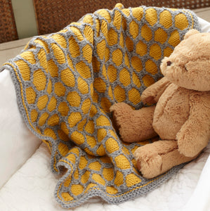 Honeycomb Baby Afghan Knitting Pattern – PDF Download