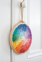 Load image into Gallery viewer, Colour Wheel Wall Art Embroidery Pattern – PDF Download