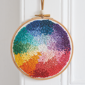Colour Wheel Wall Art Embroidery Pattern – PDF Download