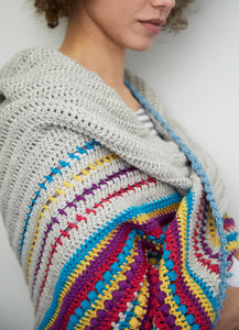 Stash Buster Shawl Crochet Pattern – PDF Download