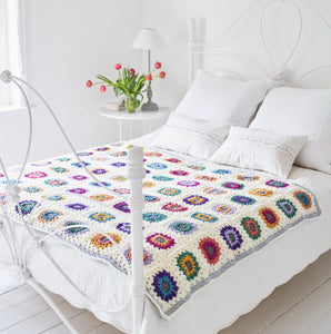 Starburst Granny Square Blanket Crochet Pattern – PDF Download