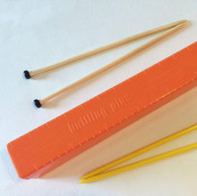 Load image into Gallery viewer, Orange Vintage Knitting Needle Case