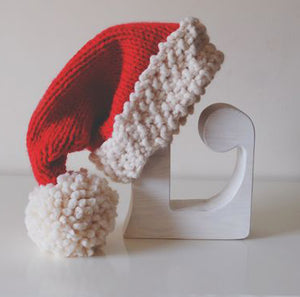 Chunky Knit Santa Hat Pattern - Instant PDF Download