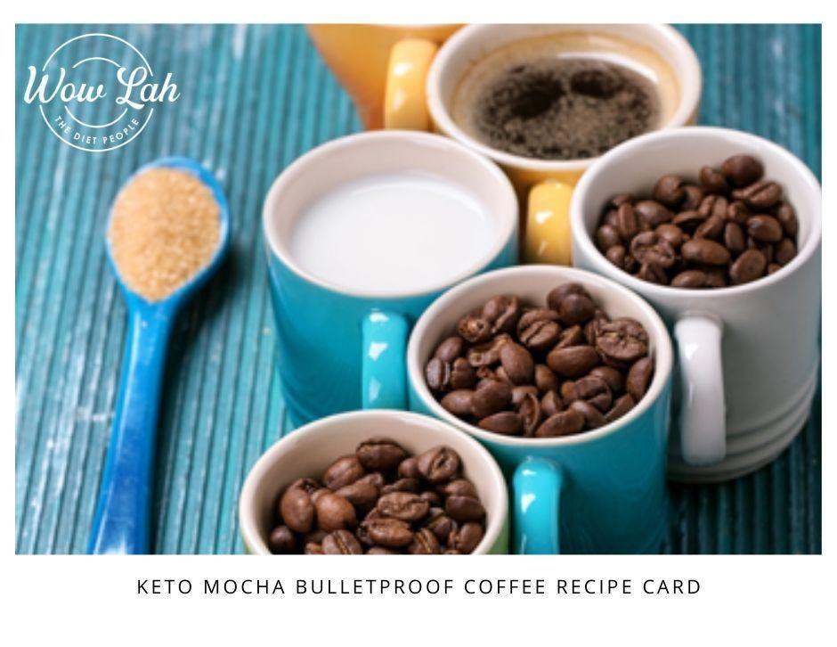 Mocha Bulletproof Coffee Recipe Card