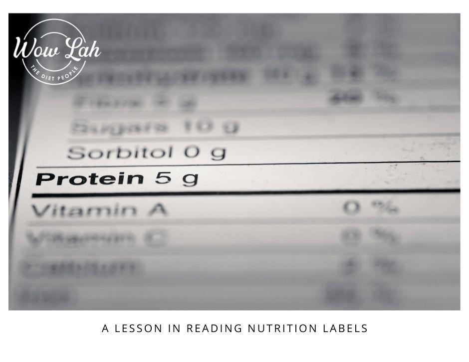 A Lesson in Reading Nutrition Labels