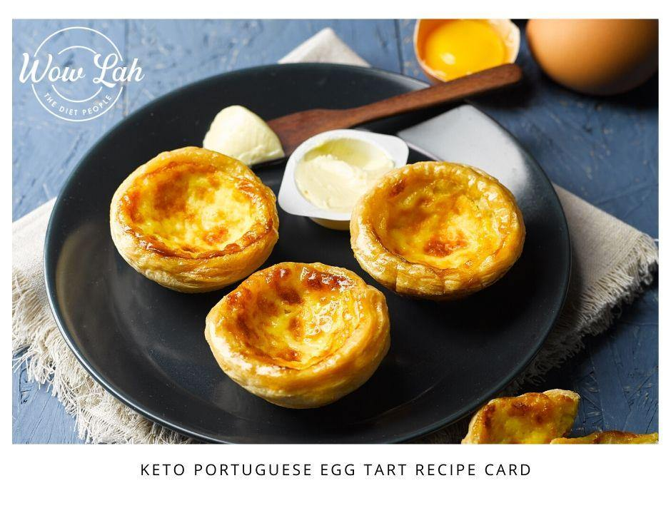 Keto Portuguese Egg Tarts Recipe Card