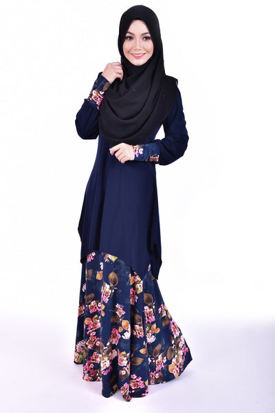 SB001E - BUSHRA (Top+Skirt) - Butik NURSAFIA