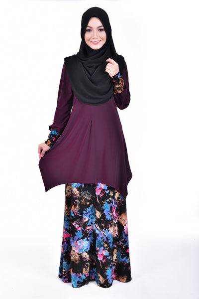 SB001F - BUSHRA (Top+Skirt) - Butik NURSAFIA