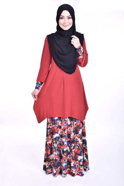 SB006E - BUSHRA (Top+Skirt) - Butik NURSAFIA