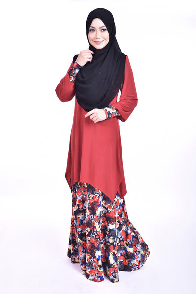 SB006E - BUSHRA (Top+Skirt)