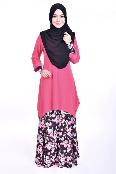 SB006F - BUSHRA (Top+Skirt) - Butik NURSAFIA