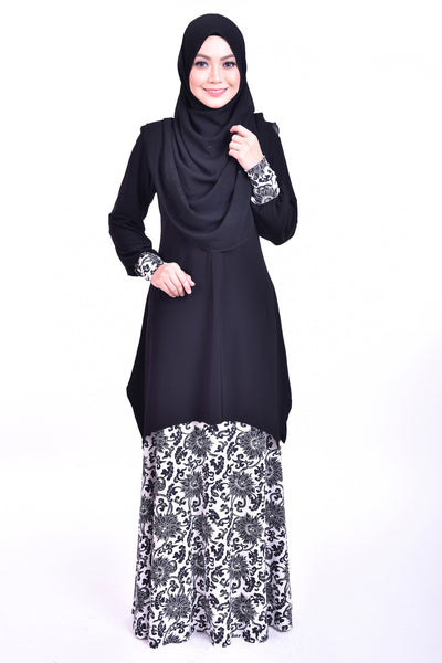 SB007E - BUSHRA (Top+Skirt) - Butik NURSAFIA