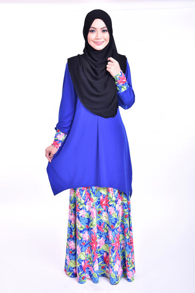 SB007F - BUSHRA (Top+Skirt) - Butik NURSAFIA