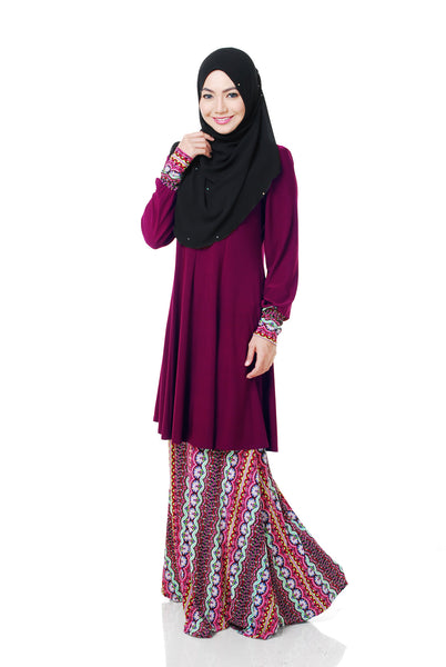 SR054F - RAISYA (Top+Skirt) - Butik NURSAFIA