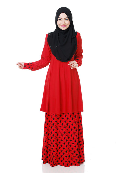 SR054G - RAISYA (Top+Skirt) - Butik NURSAFIA