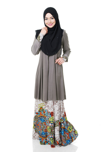SR054H - RAISYA (Top+Skirt) - Butik NURSAFIA