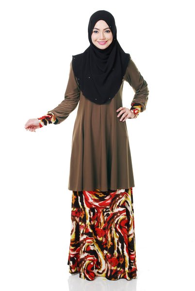 SR055E - RAISYA (Top+Skirt) - Butik NURSAFIA