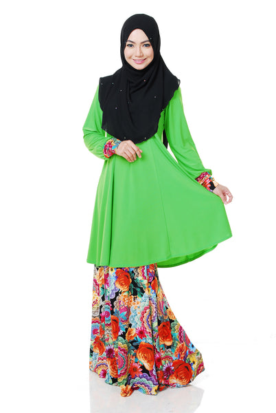 SR055H - RAISYA (Top+Skirt) - Butik NURSAFIA