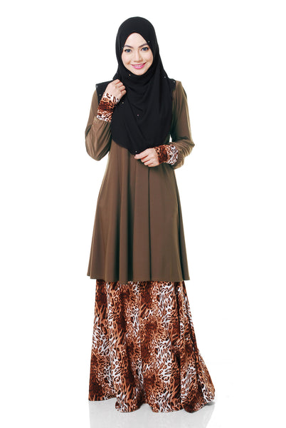 SR056A - RAISYA (Top+Skirt) - Butik NURSAFIA
