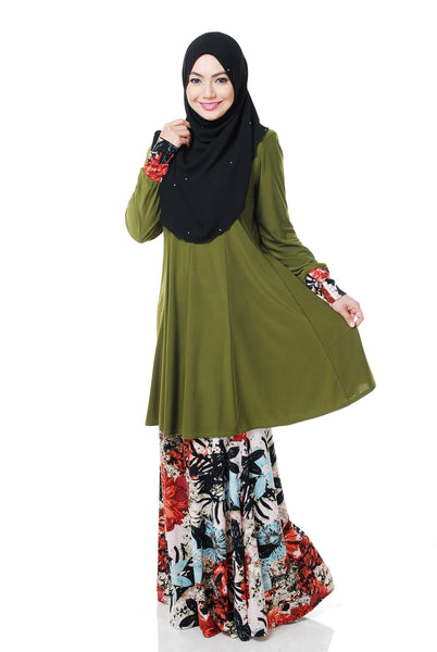 SR056C - RAISYA (Top+Skirt) - Butik NURSAFIA