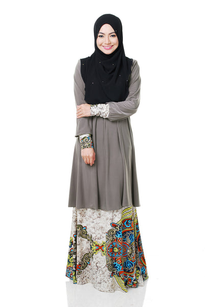 SR056D - RAISYA (Top+Skirt) - Butik NURSAFIA