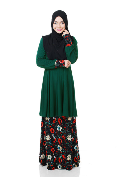 SR056E - RAISYA (Top+Skirt) - Butik NURSAFIA