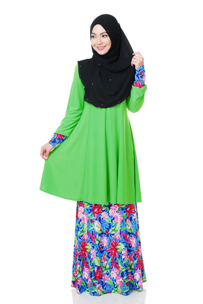 SR056H - RAISYA (Top+Skirt) - Butik NURSAFIA