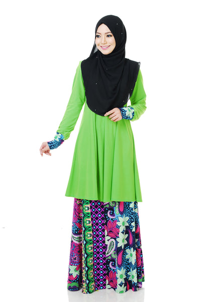 SR058B - RAISYA (Top+Skirt) - Butik NURSAFIA