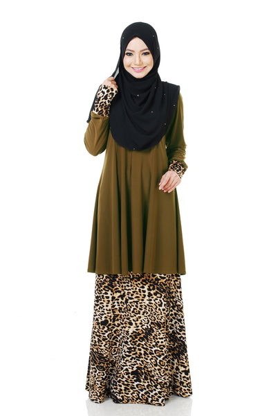 SR058C - RAISYA (Top+Skirt) - Butik NURSAFIA