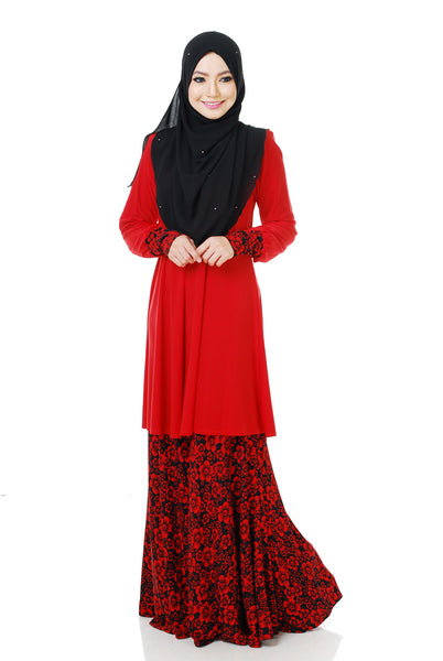 SR059C - RAISYA (Top+Skirt) - Butik NURSAFIA