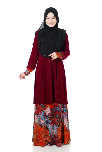 SR059F - RAISYA (Top+Skirt) - Butik NURSAFIA