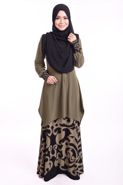 SB003F - BUSHRA (Top+Skirt) - Butik NURSAFIA