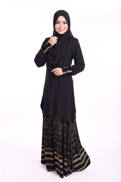 SB003G - BUSHRA (Top+Skirt) - Butik NURSAFIA