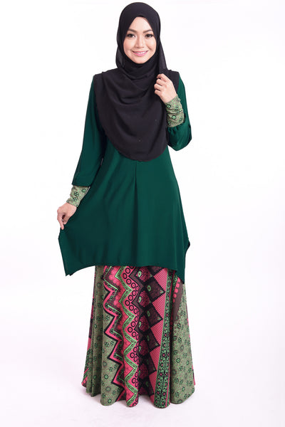 SB004B - BUSHRA (Top+Skirt) - Butik NURSAFIA
