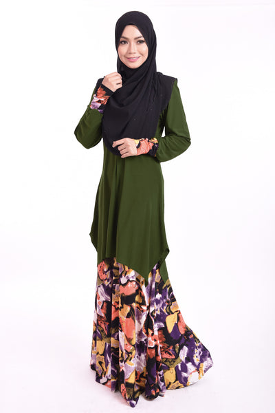 SB004E - BUSHRA (Top+Skirt) - Butik NURSAFIA