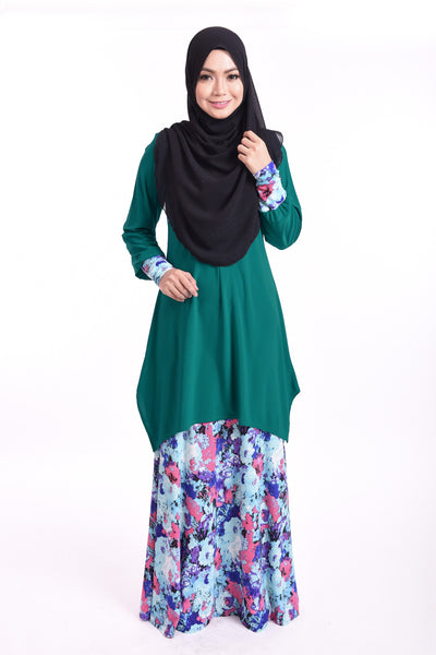 SB005C - BUSHRA (Top+Skirt) - Butik NURSAFIA