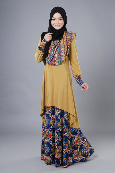 SA019F - AUFA (Top+Skirt) - Butik NURSAFIA