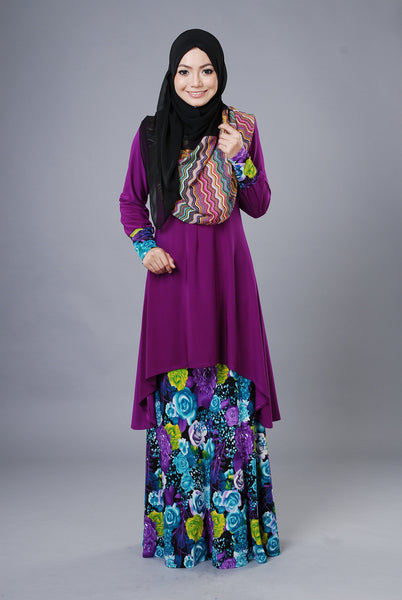 SA019H - AUFA (Top+Skirt) - Butik NURSAFIA