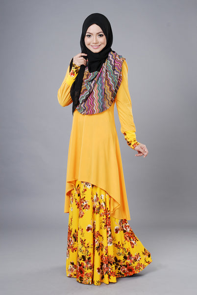 SA020B - AUFA (Top+Skirt) - Butik NURSAFIA