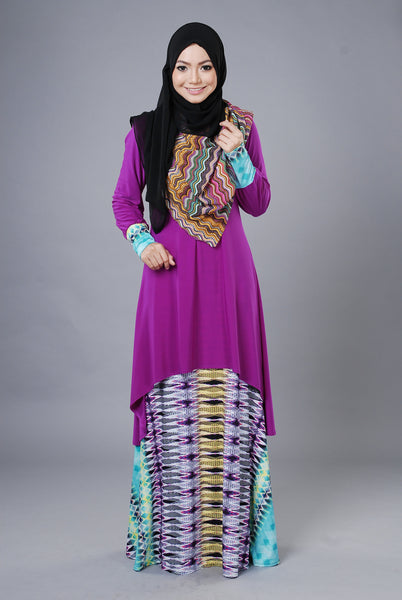 SA021F - AUFA (Top+Skirt) - Butik NURSAFIA