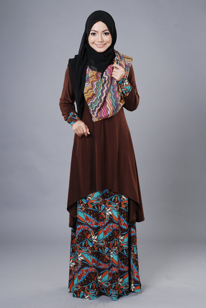 SA021G - AUFA (Top+Skirt) - Butik NURSAFIA