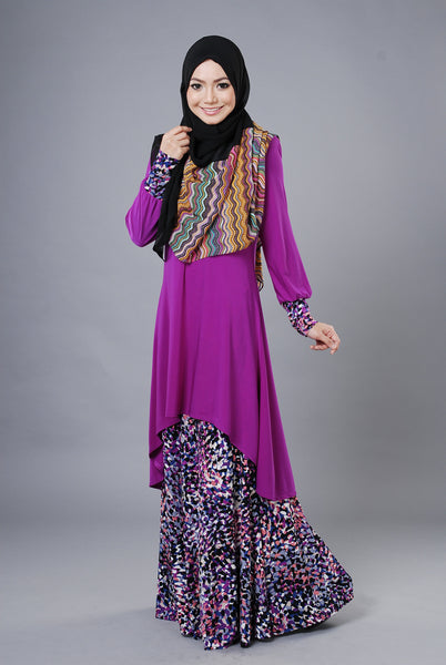 SA022D - AUFA (Top+Skirt) - Butik NURSAFIA