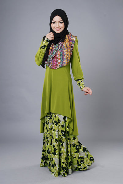 SA022G - AUFA (Top+Skirt) - Butik NURSAFIA