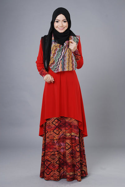 SA023A - AUFA (Top+Skirt) - Butik NURSAFIA