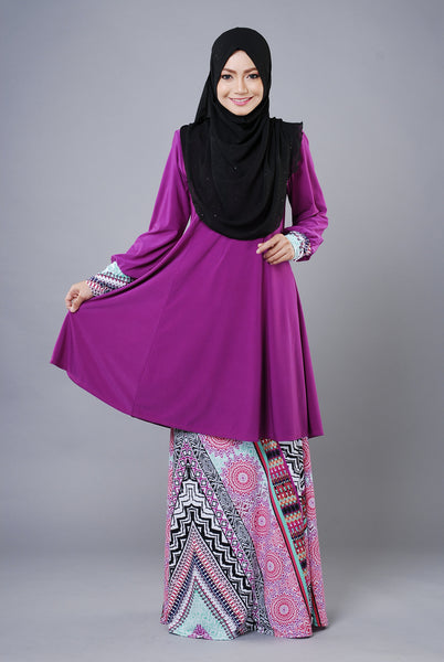 SR034B - RAISYA (Top+Skirt) - Butik NURSAFIA